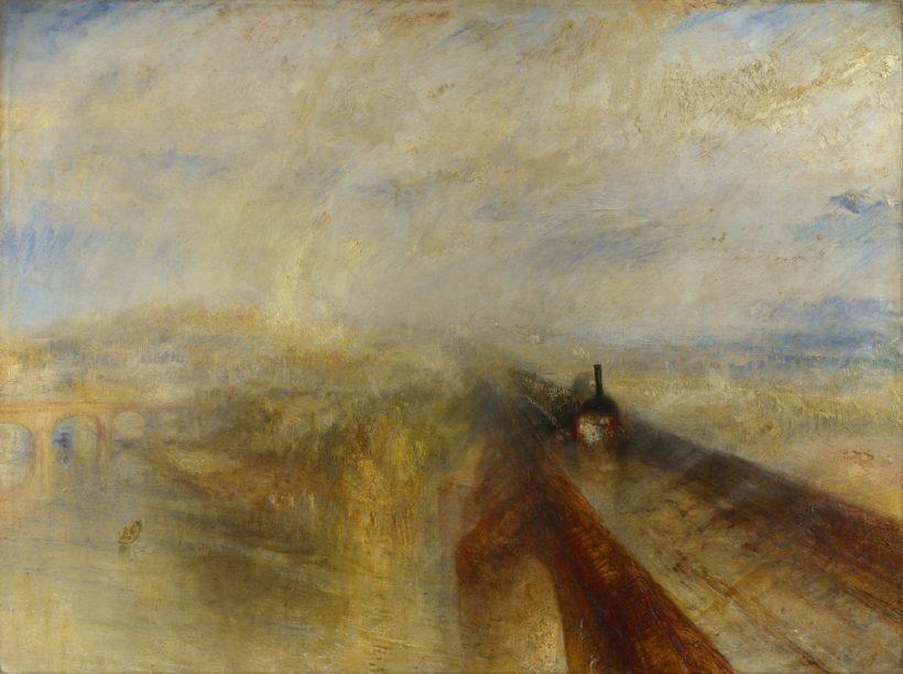 雨、蒸気、スピード-グレート・ウェスタン鉄道 (1844年、ナショナル・ギャラリー蔵)※今回の企画展の展示ではないです